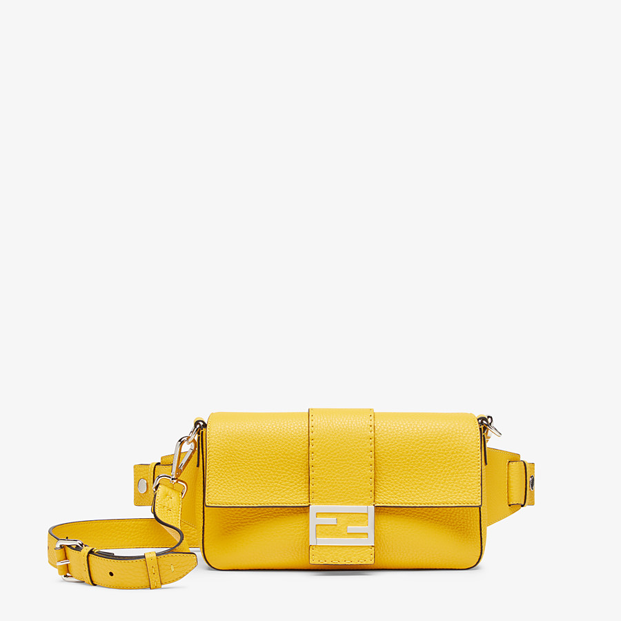 FENDI BAGUETTE - Yellow leather bag - view 1 detail