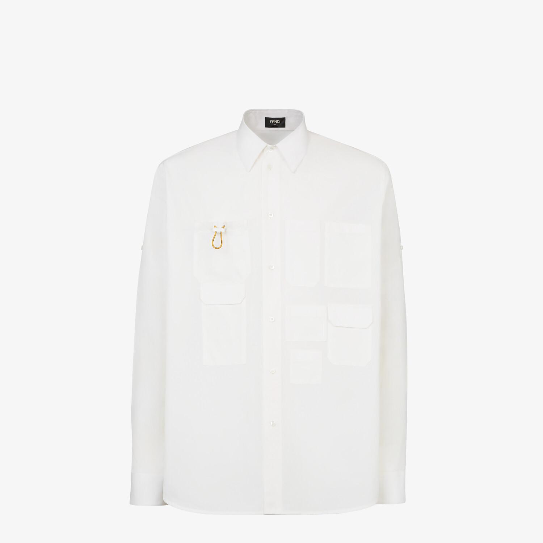FENDI 恤衫 - 白色府綢恤衫 - view 1 detail