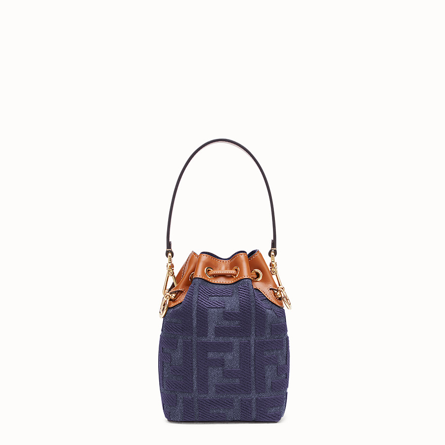 FENDI MON TRESOR - Blue denim mini bag - view 4 detail