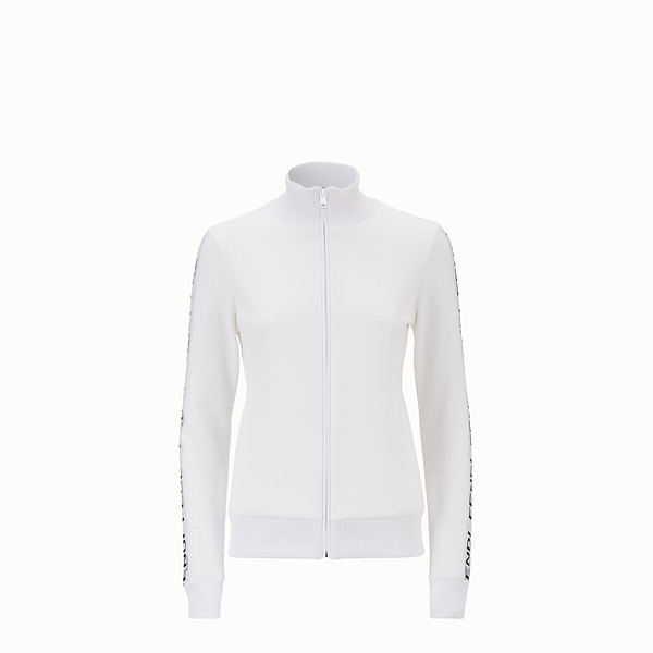 FENDI SWEATSHIRT - White fabric sweatshirt - view 1 small thumbnail