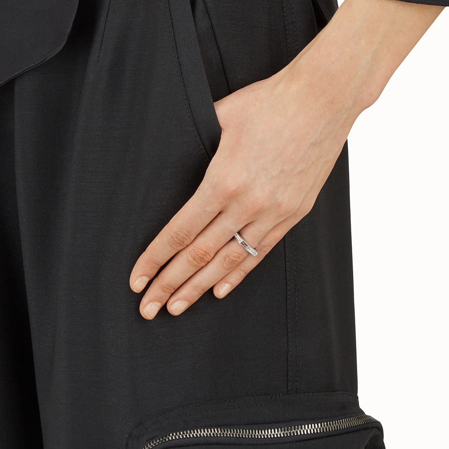 FENDI BAGUETTE RING - Baguette ring with crystals - view 2 detail