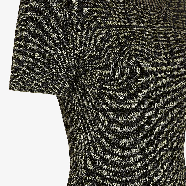 FENDI DRESS - Green viscose dress - view 3 detail