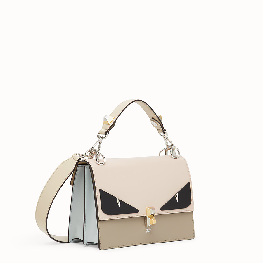 FENDI KAN I - Beige leather bag - view 2 detail