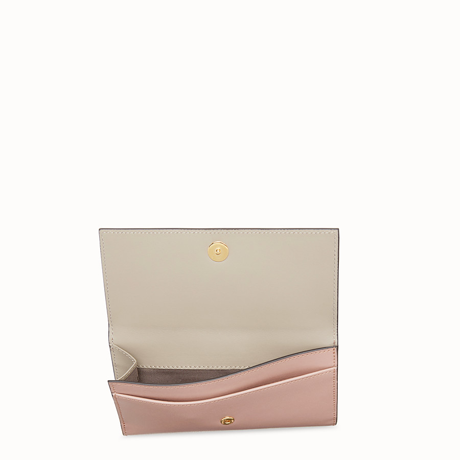 FENDI CONTINENTAL MEDIUM - Pink leather wallet - view 4 detail