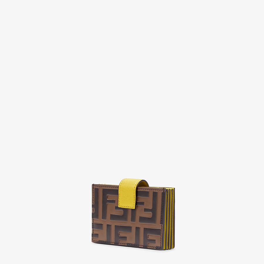 FENDI KARTENETUI - Kartenetui mit Seitenfalten aus Leder in Gelb - view 2 detail