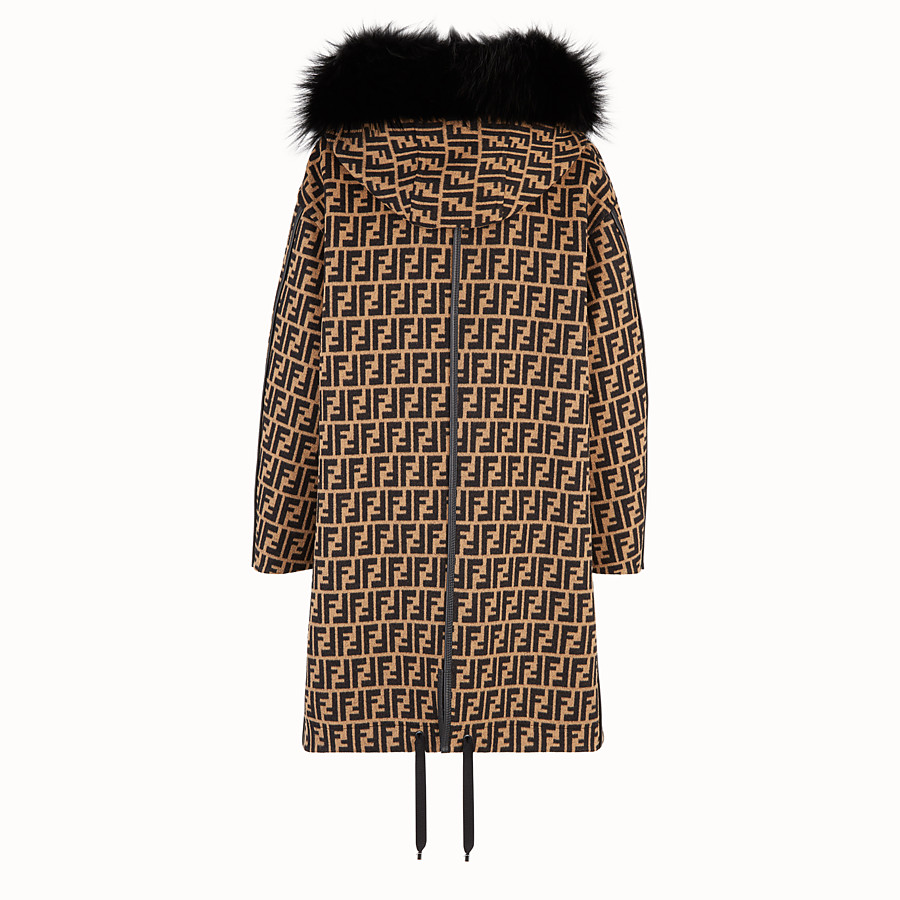 FENDI OVERCOAT - Multicolour wool jacket - view 2 detail