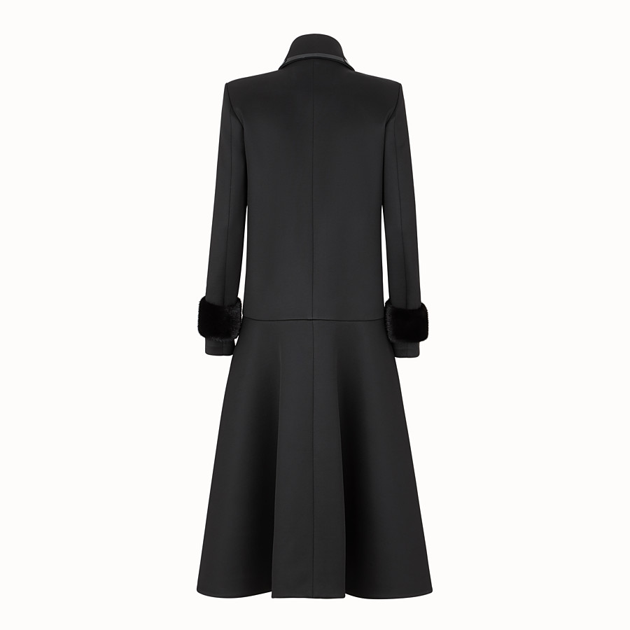 FENDI COAT - Black jersey coat - view 2 detail