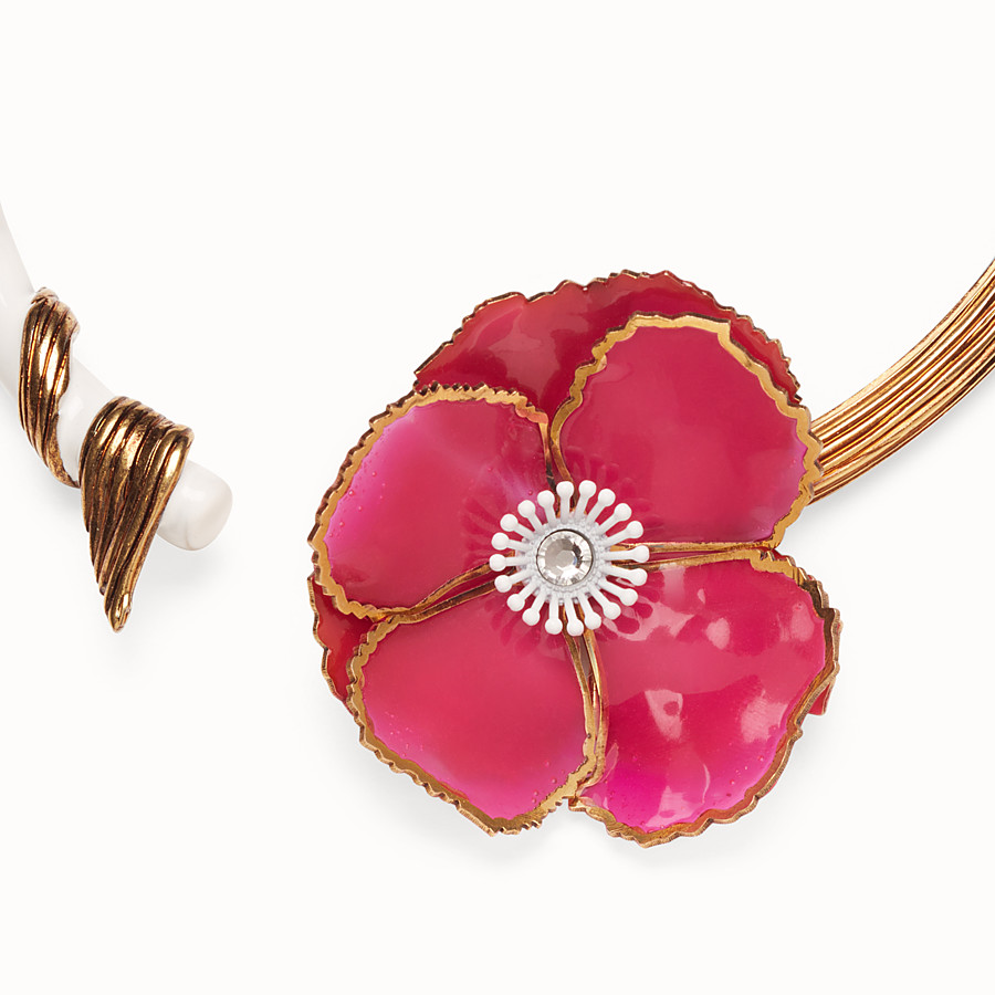 FENDI CHOKER FLOWERS - Collier multicolore - view 2 detail