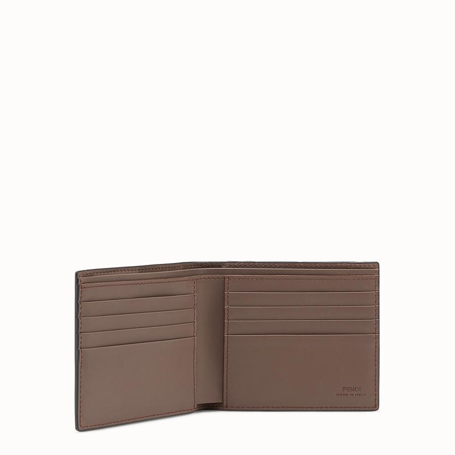FENDI WALLET - Brown leather bi-fold - view 3 detail