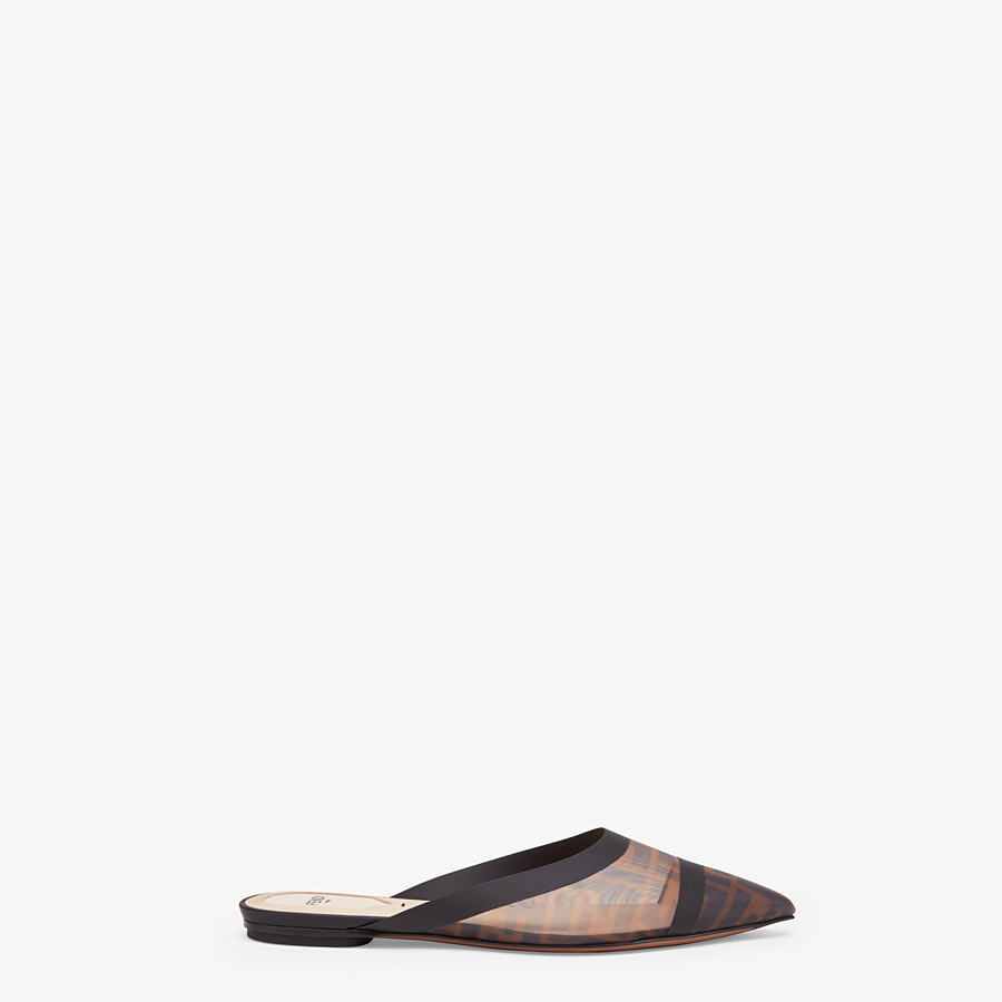 FENDI SLINGBACK - Sabots en filet marron - view 1 detail