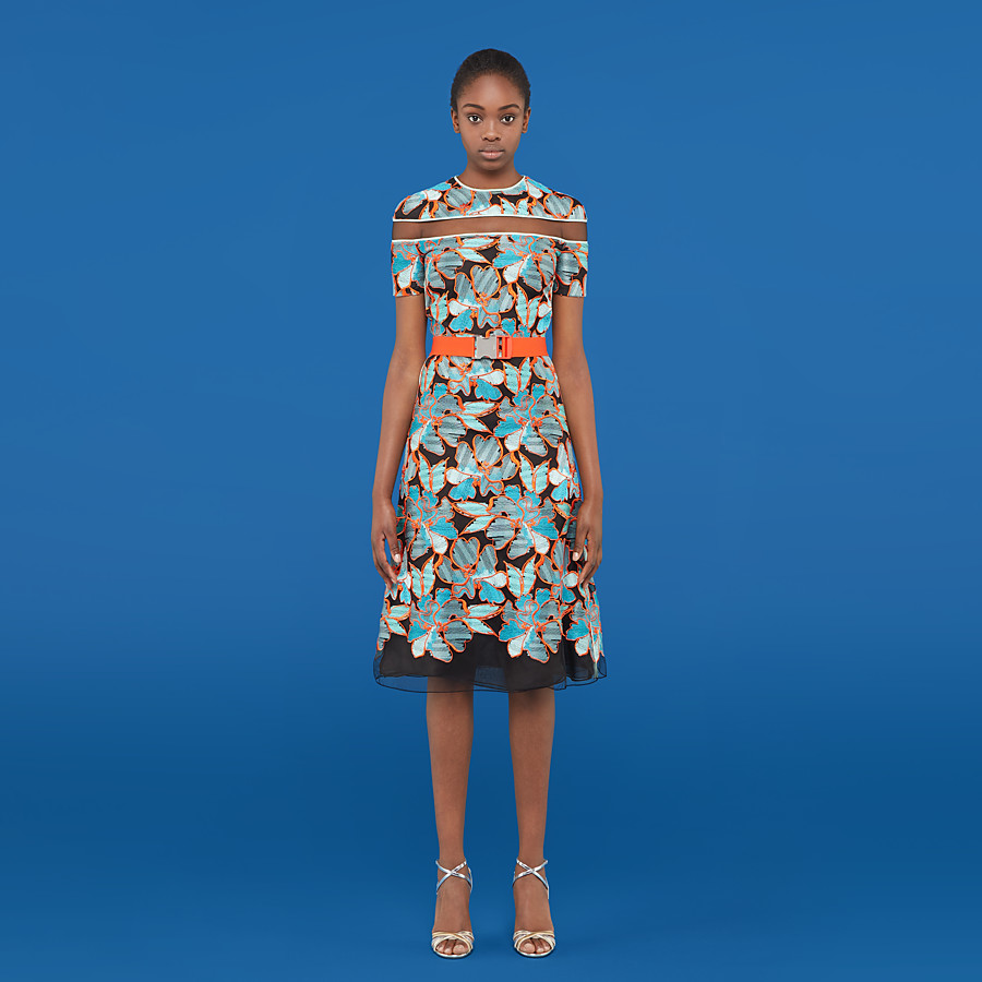 FENDI DRESS - Multicolor lace dress - view 4 detail