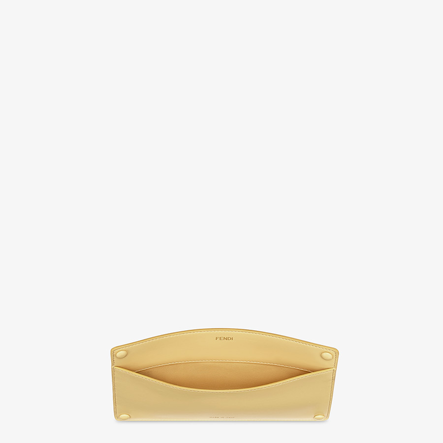 FENDI PEEKABOO ISEEU POCKET - Accessory pocket in yellow leather - view 3 detail