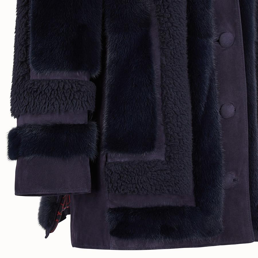 FENDI COAT - Blue fur coat - view 3 detail