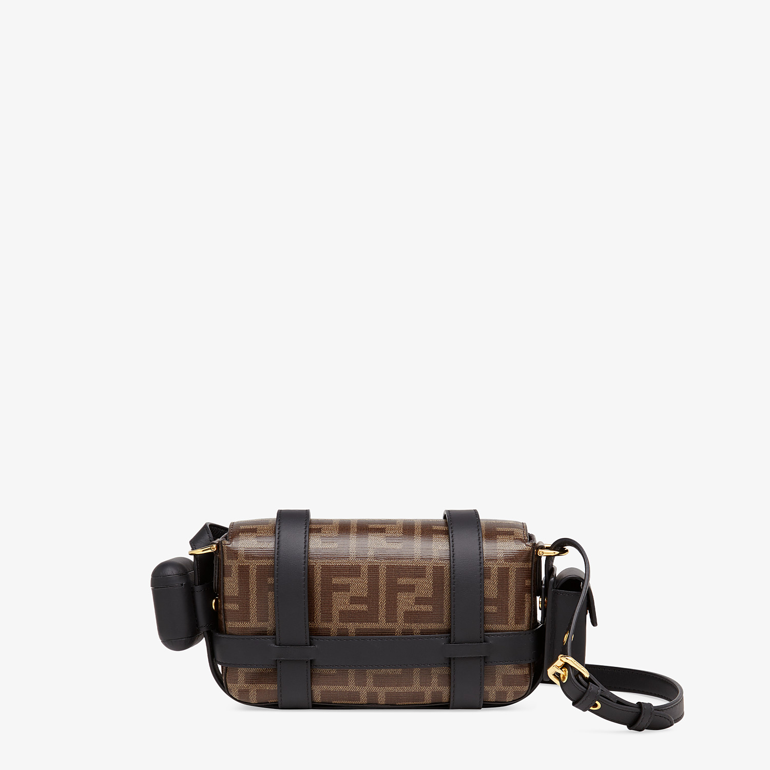 FENDI BAGUETTE MINI CAGE - Multicolor leather and fabric bag - view 5 detail