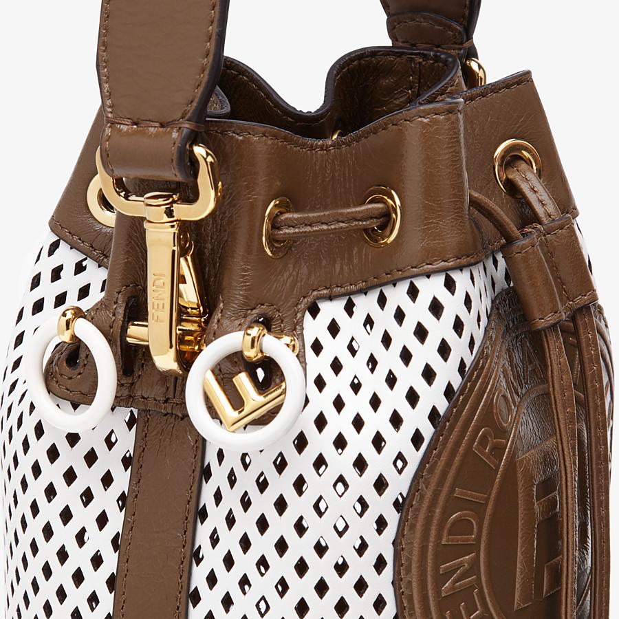 FENDI MON TRESOR - White leather mini-bag - view 6 detail