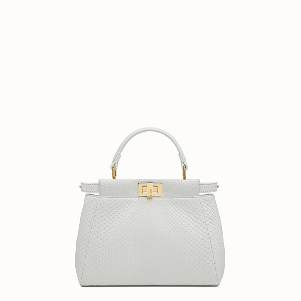 FENDI PEEKABOO MINI - White python handbag - view 1 small thumbnail