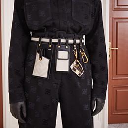 FENDI BELT - Black leather belt - view 3 thumbnail