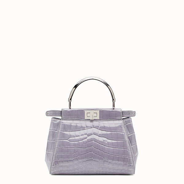 FENDI PEEKABOO MINI - Grey crocodile bag - view 1 small thumbnail