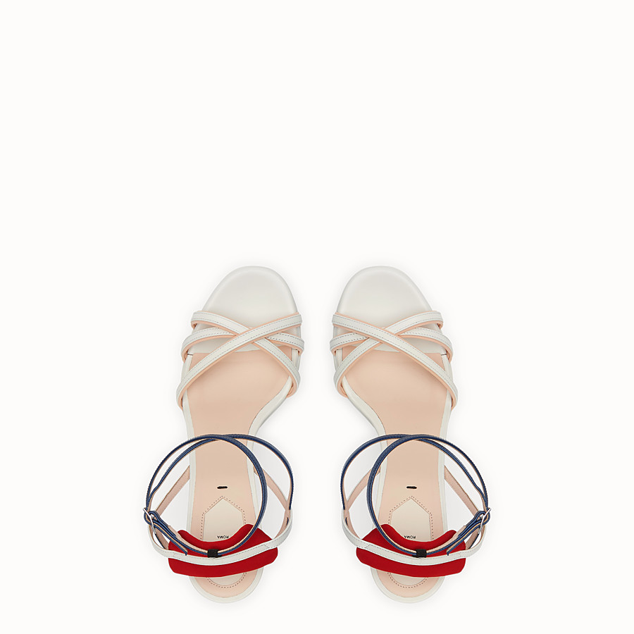 FENDI SANDALS - White leather sandals - view 4 detail