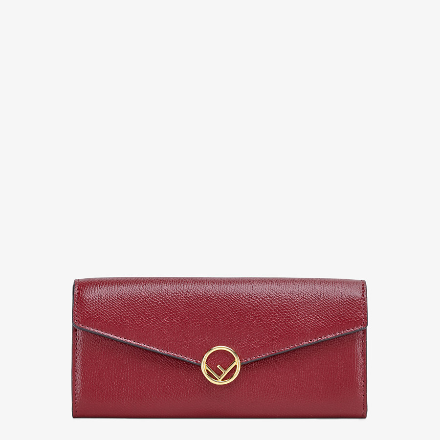 FENDI CONTINENTAL - Burgundy leather wallet - view 1 detail