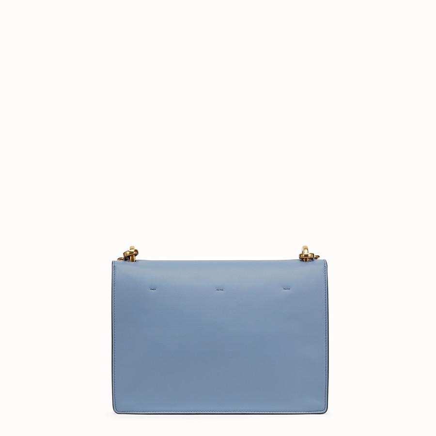 FENDI KAN U - Light blue leather bag - view 4 detail