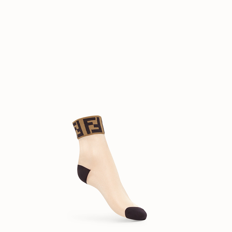 FENDI SOCKS - Sheer white nylon socks - view 1 detail