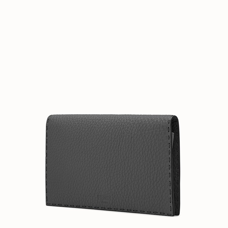 FENDI PEEKABOO MINI CLUTCH - Selleria in grey Roman leather - view 2 detail