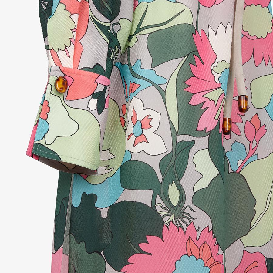 FENDI DRESS - Multicolour silk dress - view 3 detail