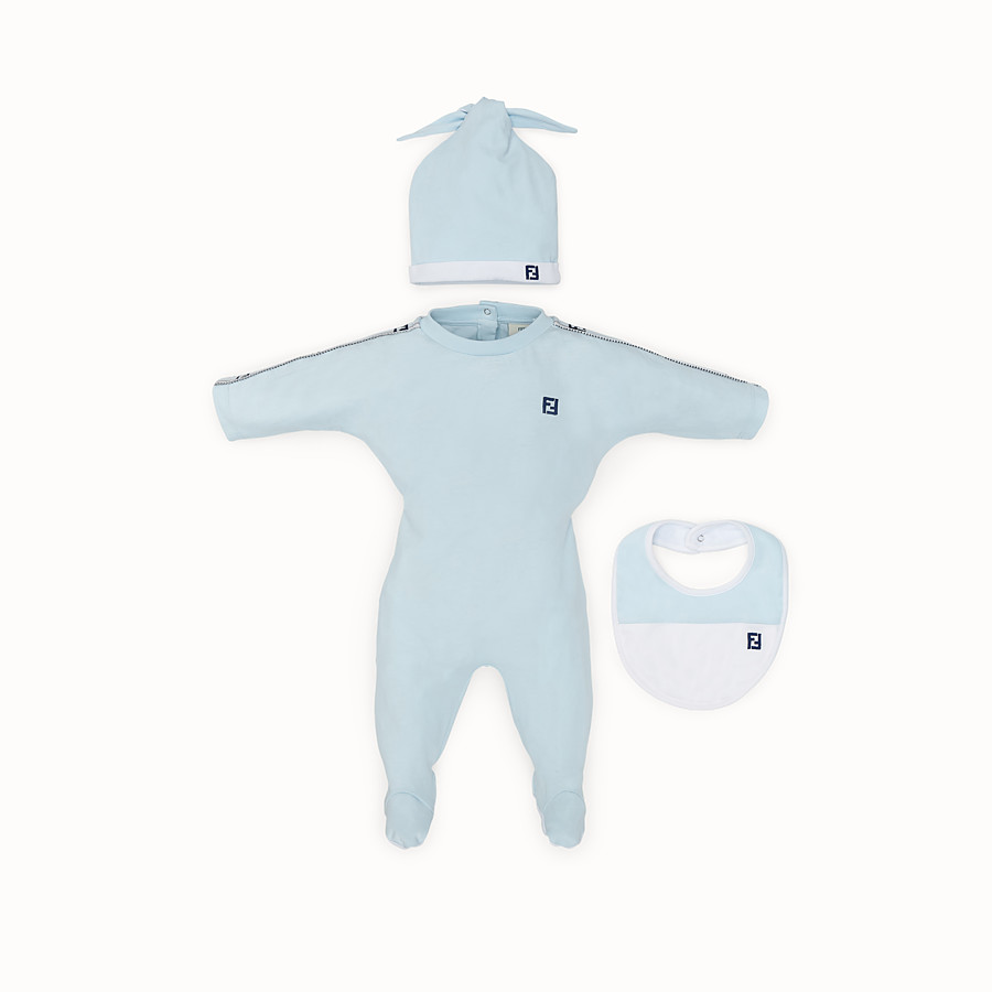 FENDI BABY BOY KIT - Light blue cotton kit - view 1 detail