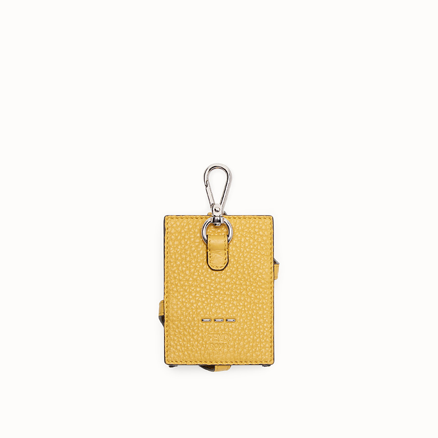 FENDI KEY RING - Yellow leather charm - view 2 detail