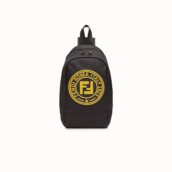 FENDI BABY BACKPACK - Black and palladium nylon backpack - view 1 small thumbnail