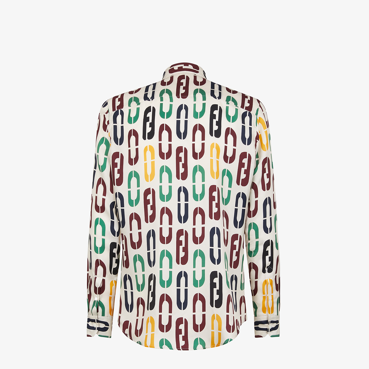 FENDI SHIRT - Multicolor silk shirt - view 2 detail