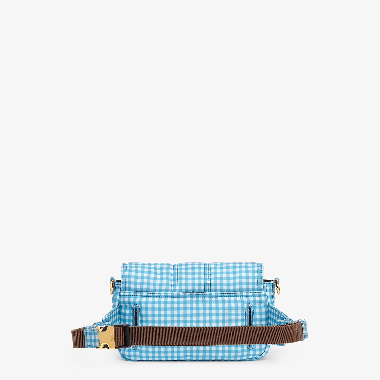 FENDI BELT BAGUETTE SMALL - Vichy print nylon bag - view 4 detail