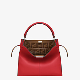 FENDI PEEKABOO X-LITE MEDIUM - Tasche aus Leder in Rot - view 1 thumbnail
