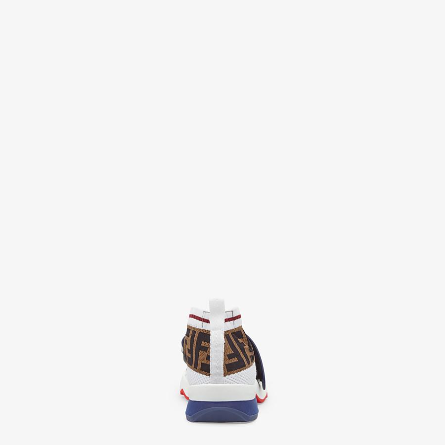 FENDI SNEAKERS - White fabric sneakers - view 3 detail