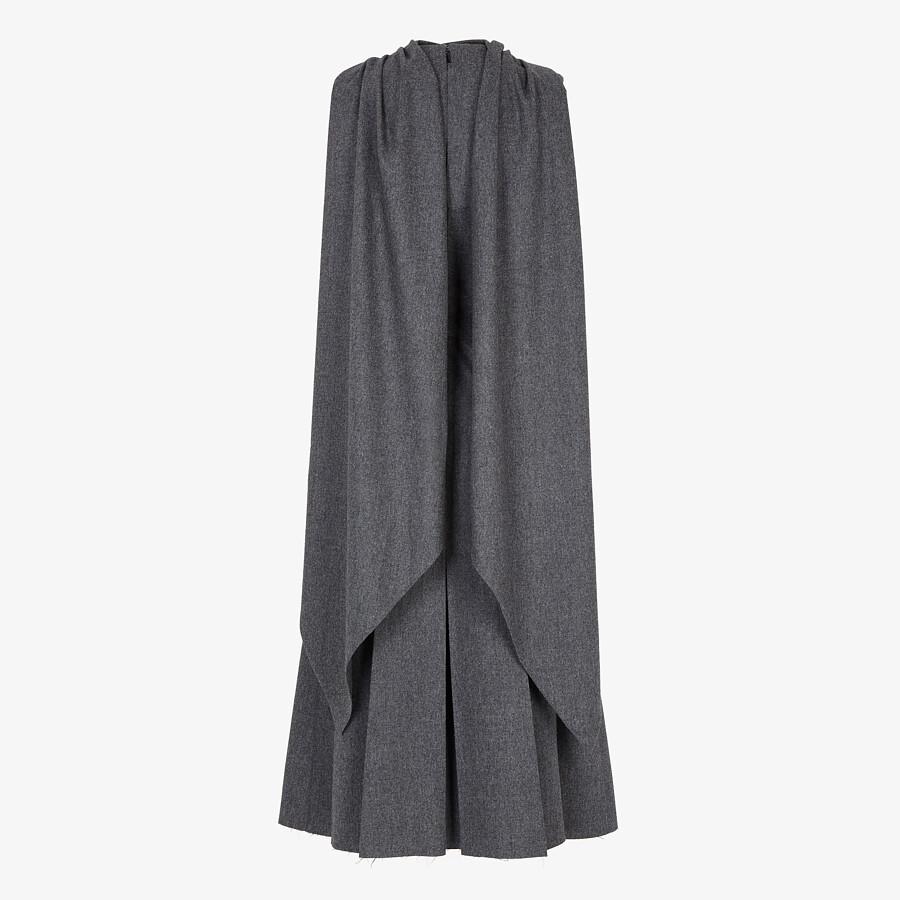 FENDI DRESS - Gray flannel dress - view 2 detail