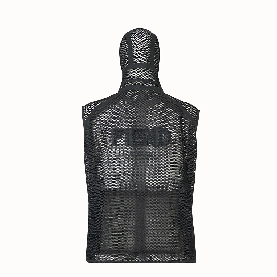 FENDI ジレ - ブラックのマイクロメッシュ素材を使用したジレ。 - view 2 detail