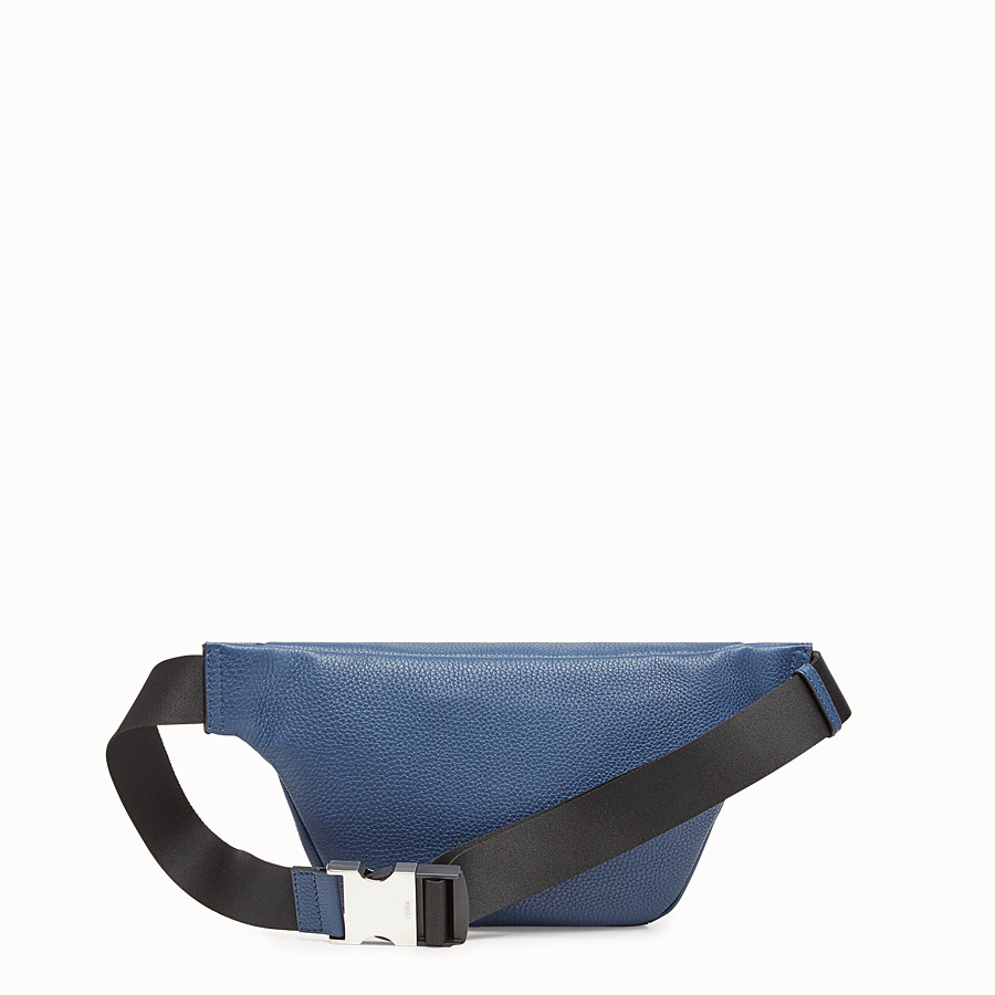 FENDI BELT BAG - Blue leather belt bag - view 3 detail