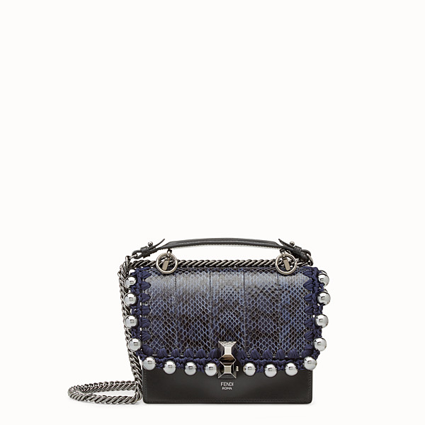 FENDI KAN I SMALL - Leather mini-bag with exotic details - view 1 small thumbnail