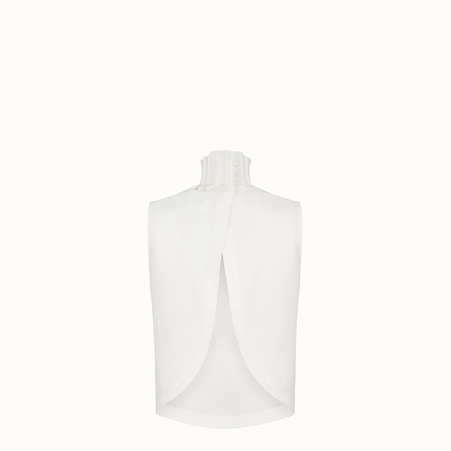 FENDI TOP - White cotton top - view 2 detail