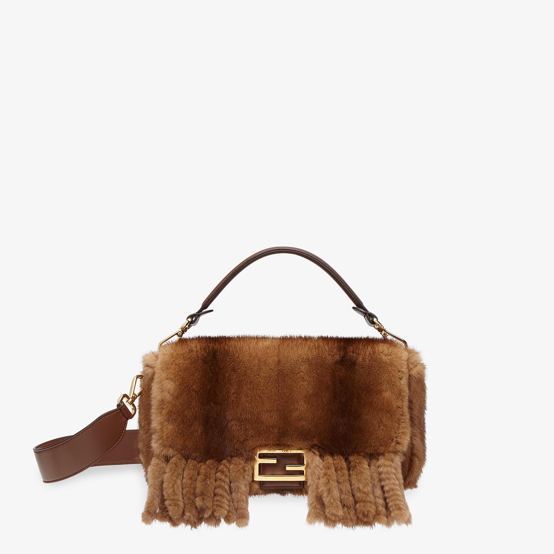 FENDI BAGUETTE - Natural mink bag with fringing - view 1 detail