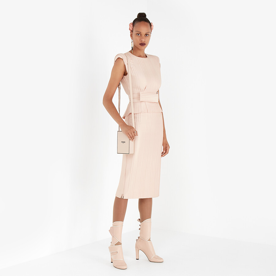 FENDI DRESS - Pink satin dress - view 4 detail