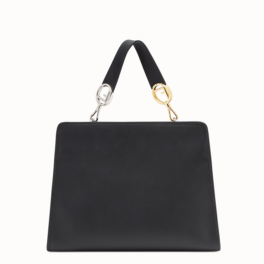 FENDI RUNAWAY REGULAR - Black leather bag - view 3 detail