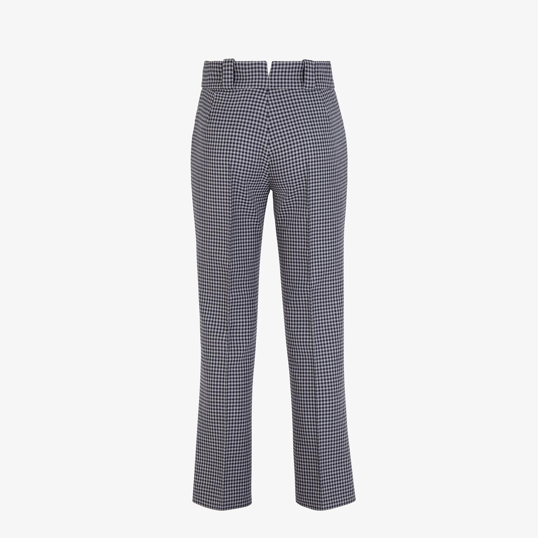 FENDI TROUSERS - Vichy wool trousers - view 2 detail