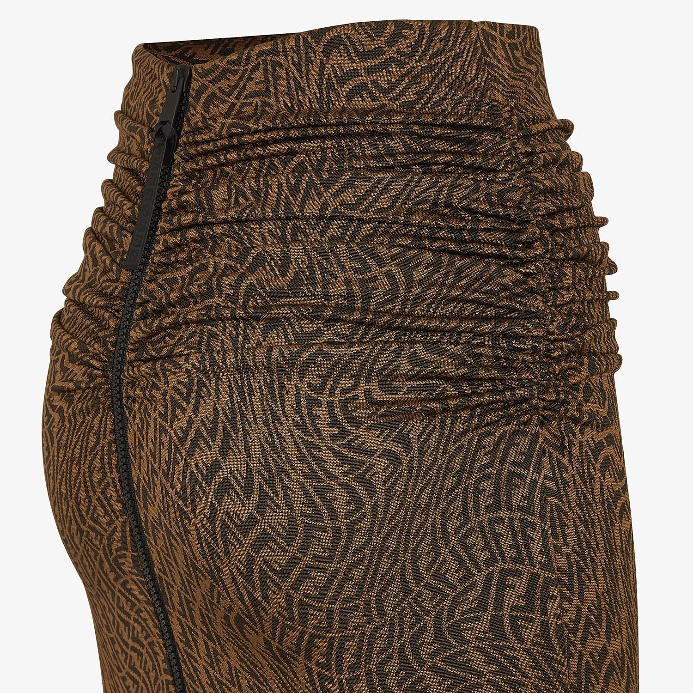 FENDI SKIRT - Brown organzine skirt - view 3 detail