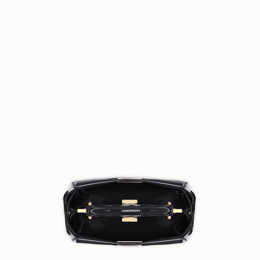 FENDI PEEKABOO ICONIC MINI - Black patent leather bag - view 5 detail
