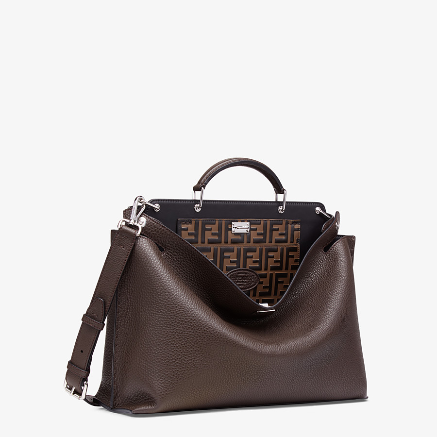 FENDI PEEKABOO ICONIC ESSENTIAL - Brown calfskin bag - view 2 detail