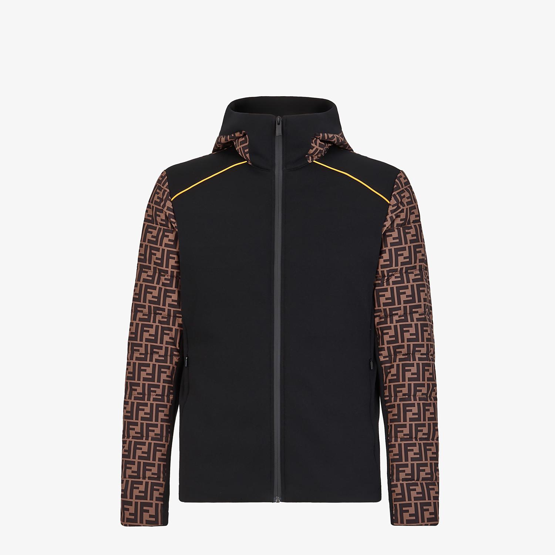 FENDI BLOUSON JACKET - Multicolor tech fabric sweater - view 1 detail