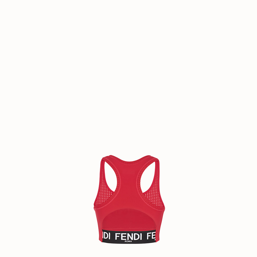FENDI TOP - Top aus Stoff in Rot - view 2 detail