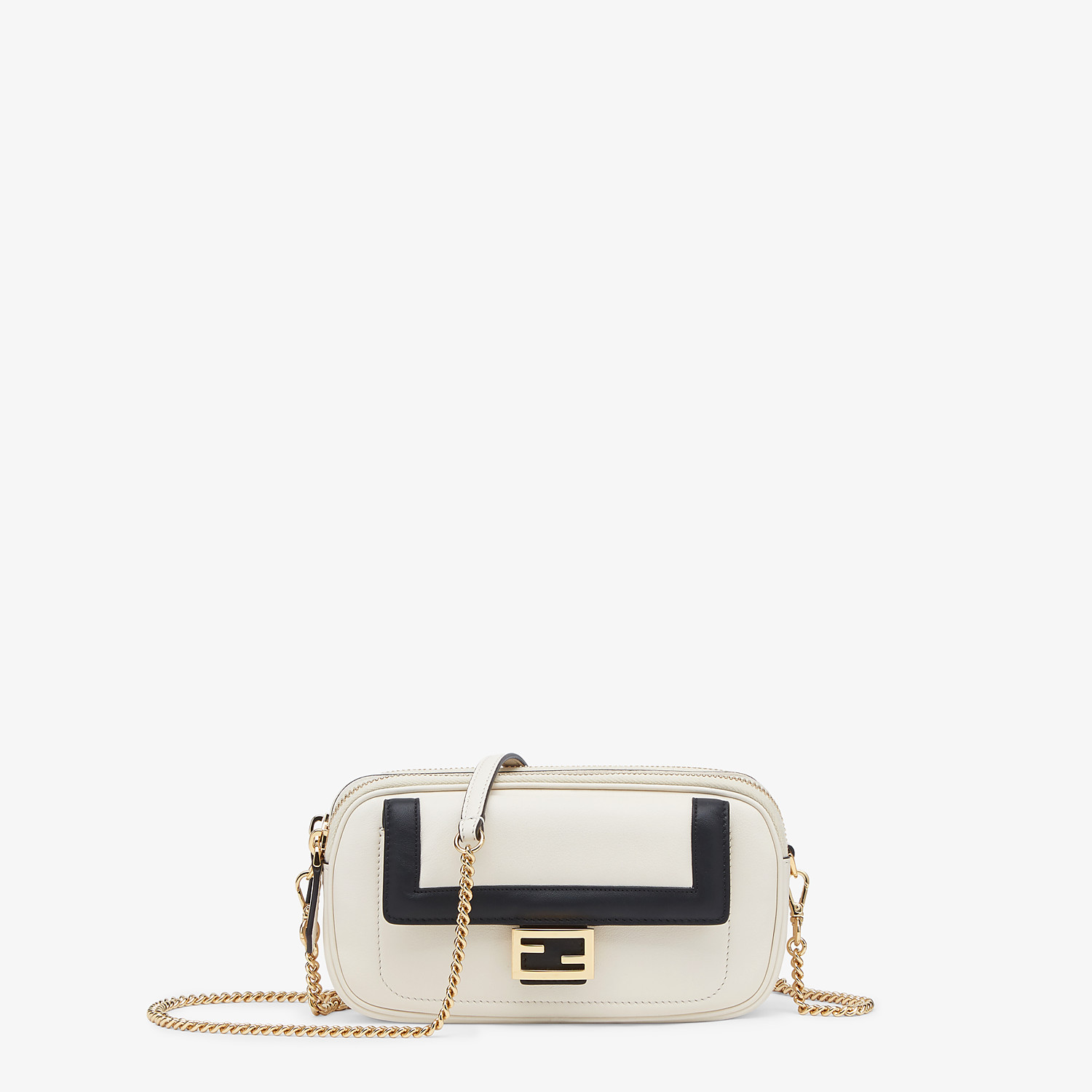 FENDI EASY 2 BAGUETTE - White leather mini bag - view 1 detail